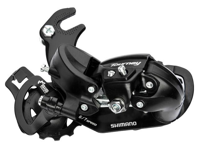 Shimano Tourney RD-TY300 Derailleur met adapter zwart